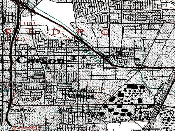 Zip code 90744 topographic map