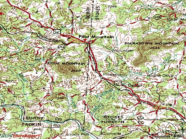 Zip code 27043 topographic map