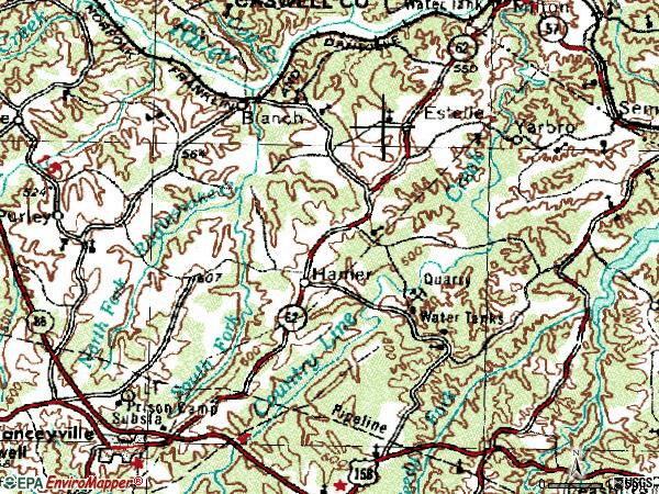 Zip code 27212 topographic map