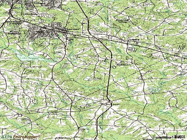 Zip code 27529 topographic map