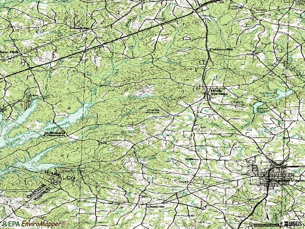 Zip code 27540 topographic map