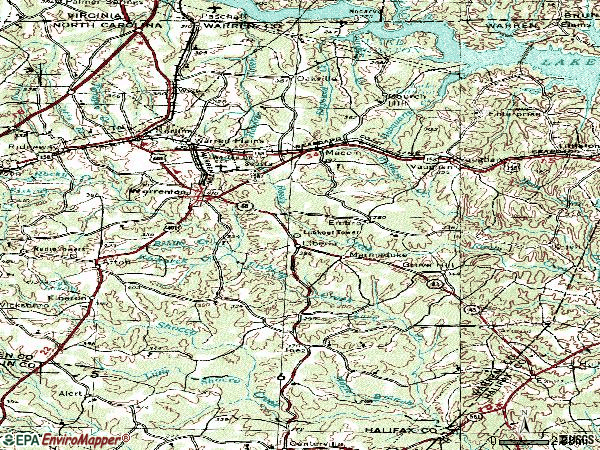 Zip code 27589 topographic map