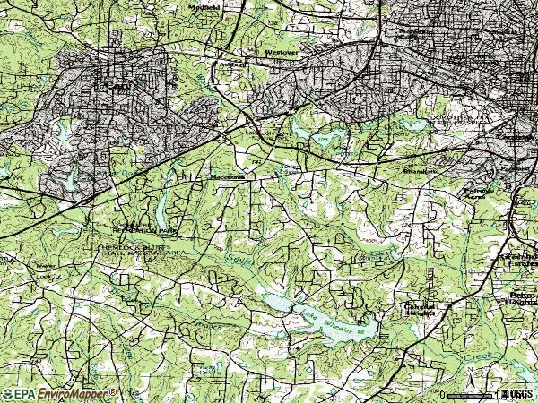 Zip code 27606 topographic map