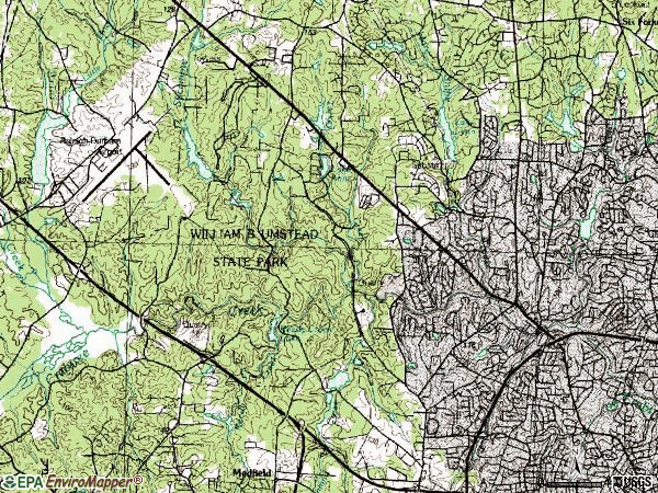 Zip code 27612 topographic map