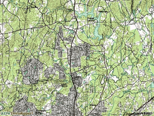 Zip code 27712 topographic map