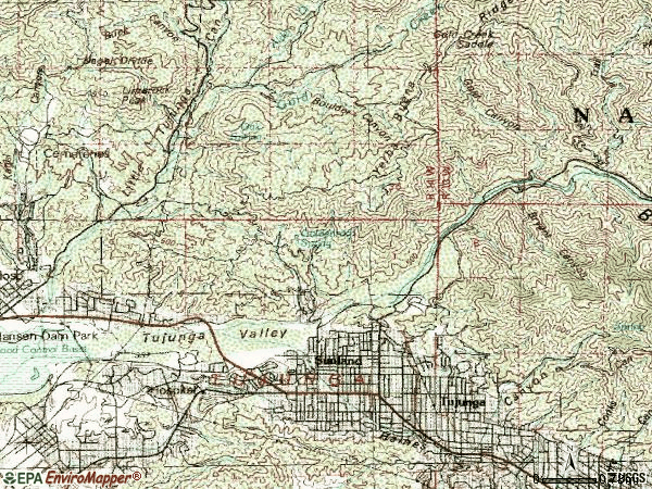 Zip code 91040 topographic map