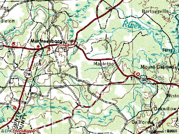 Zip code 27855 topographic map