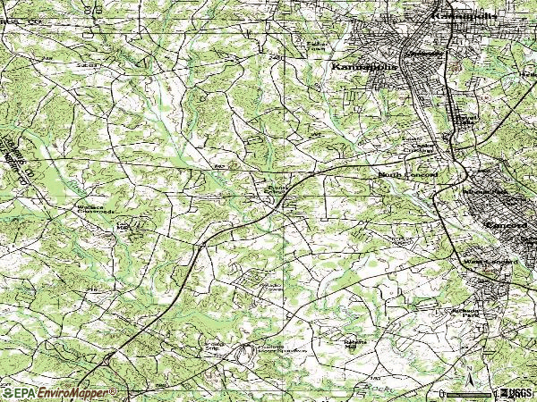 Zip code 28027 topographic map