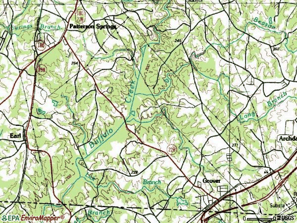 Zip code 28073 topographic map
