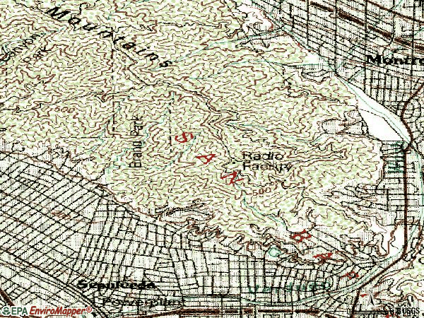 Zip code 91207 topographic map