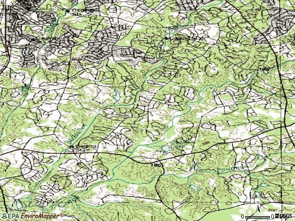 Zip code 28226 topographic map