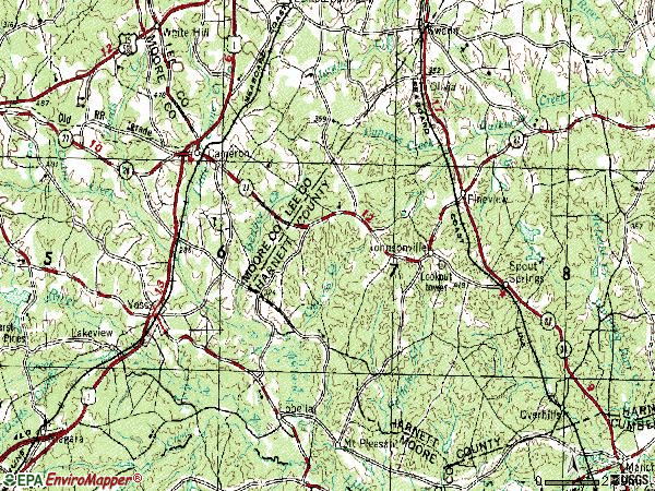 Zip code 28326 topographic map