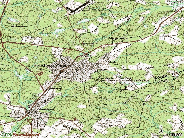 Zip code 28387 topographic map