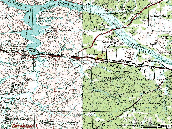 Zip code 35616 topographic map