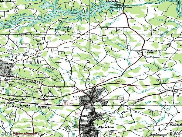 Zip code 28613 topographic map