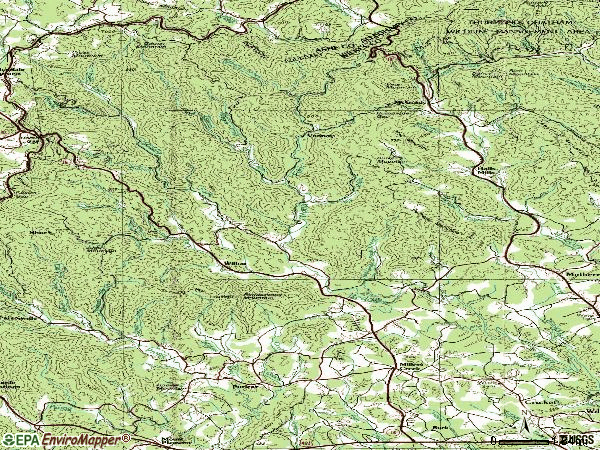 Zip code 28651 topographic map