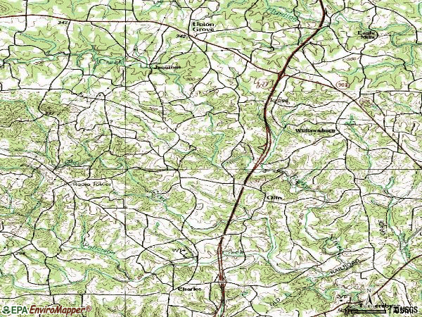 Zip code 28660 topographic map