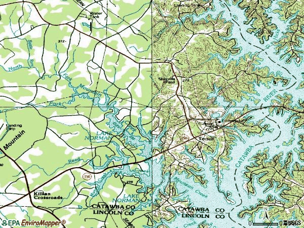 Zip code 28673 topographic map