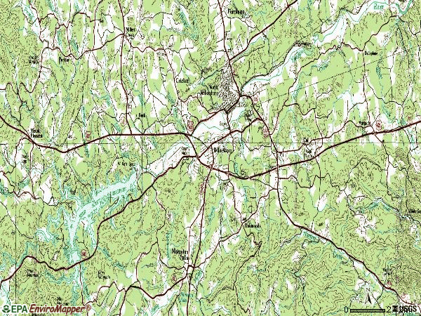 Zip code 28697 topographic map