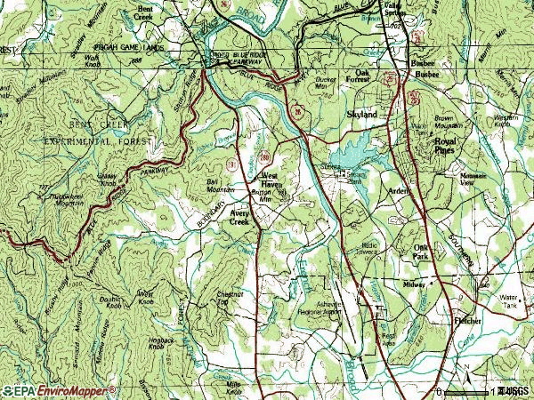 Zip code 28704 topographic map