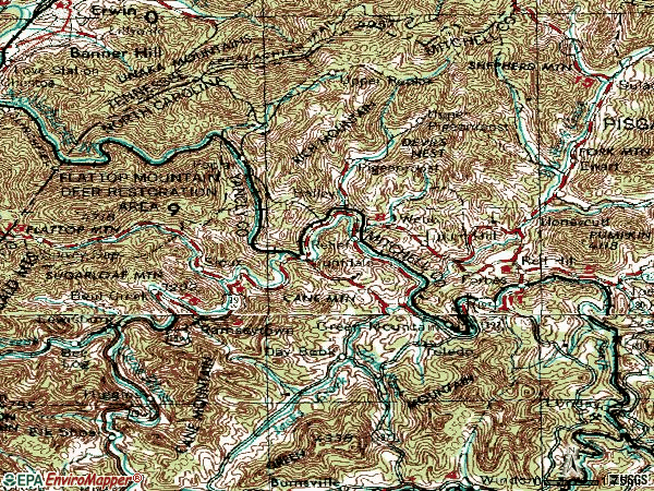 Zip code 28740 topographic map