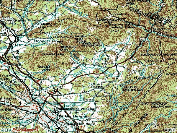 Zip code 28792 topographic map