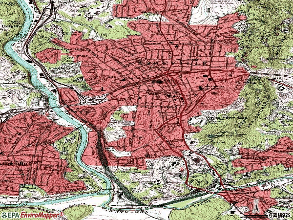 Zip code 28801 topographic map