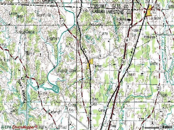 Zip code 35620 topographic map