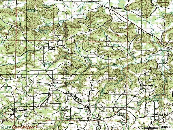 Zip code 35621 topographic map