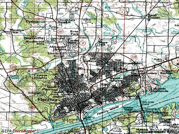Zip code 35630 topographic map