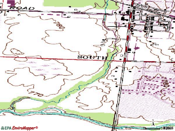 Zip code 43109 topographic map