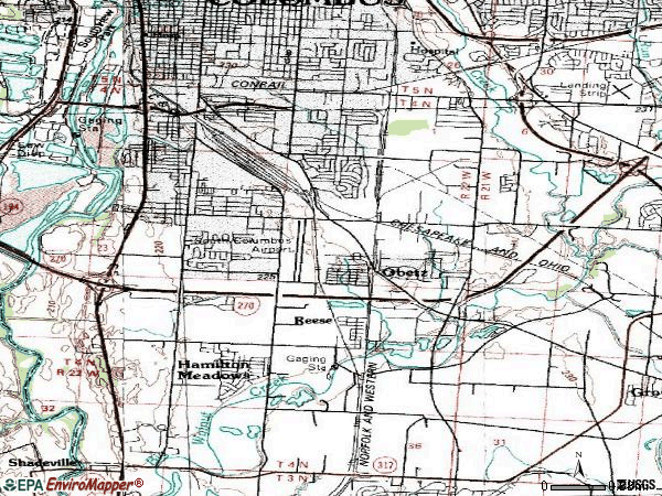 Zip code 43207 topographic map