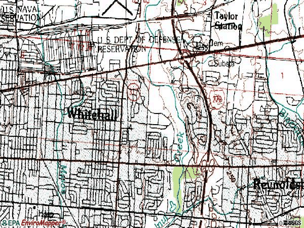 Zip code 43213 topographic map