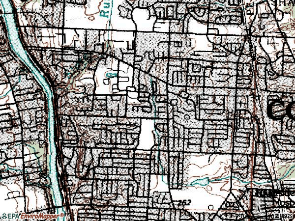 Zip code 43220 topographic map