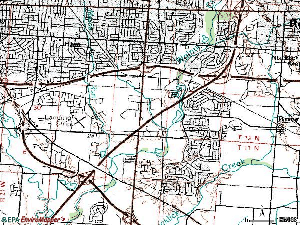 Zip code 43232 topographic map