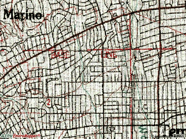 Zip code 91775 topographic map
