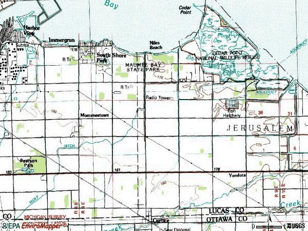 Zip code 43618 topographic map