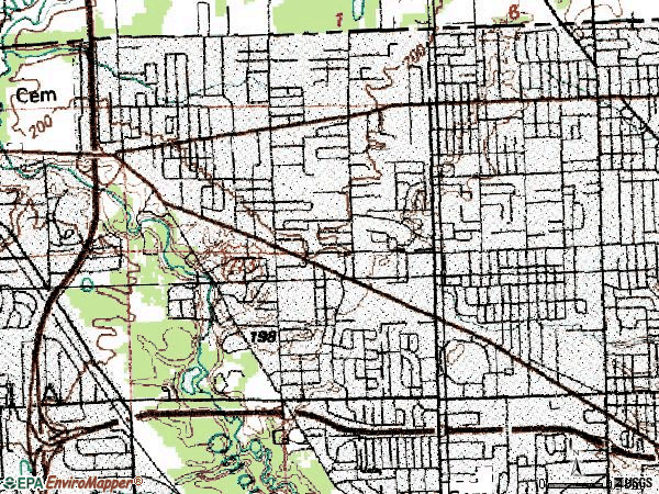 Zip code 43623 topographic map