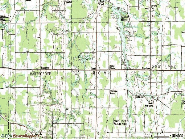 Zip code 44085 topographic map