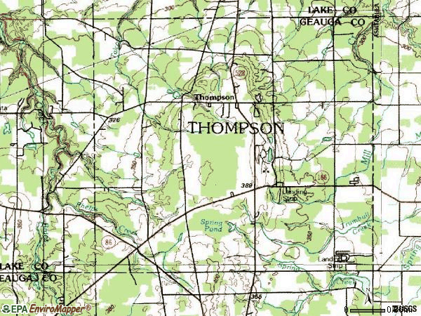 Zip code 44086 topographic map