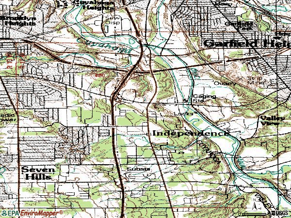 Zip code 44131 topographic map