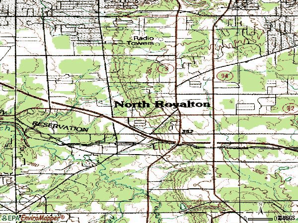 Zip code 44133 topographic map