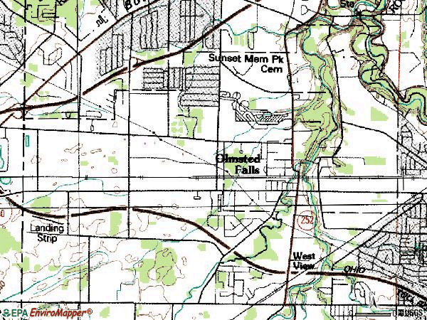 Zip code 44138 topographic map