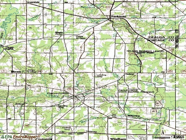 Zip code 44231 topographic map