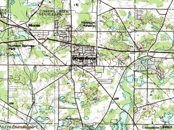 Zip code 44241 topographic map