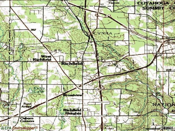 Zip code 44286 topographic map