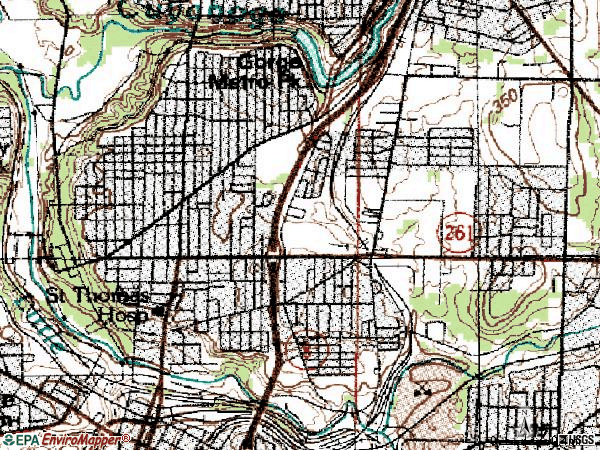 Zip code 44310 topographic map