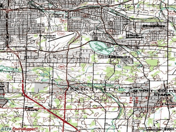 Zip code 44312 topographic map