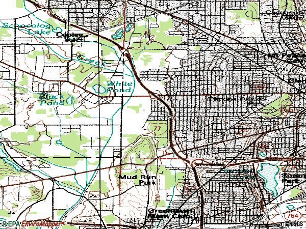 Zip code 44320 topographic map