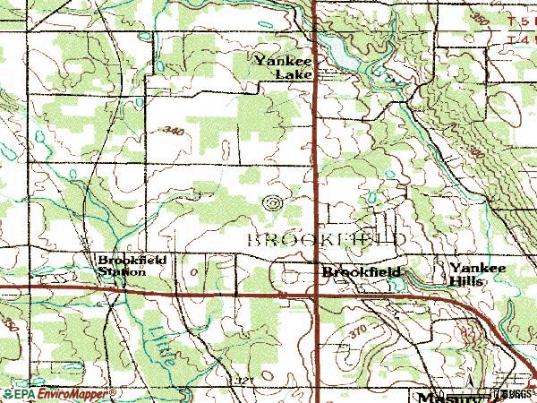 Zip code 44403 topographic map